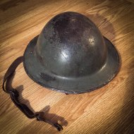 My grandfather's Second World War helmet.