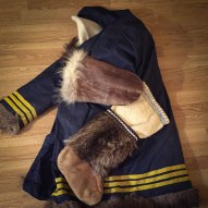 Parka, gloves and mukluks used by my father while working on the DEW Line in the arctic.