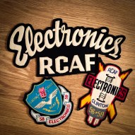 Electronic badges my father collected in his stint in the RCAF.