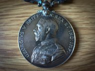 "The Distinguished Conduct Medal my grandfather earned for ""conspicuous gallantry""."